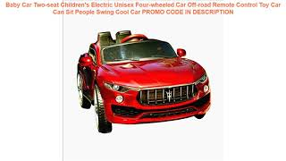 Free Shipping  Baby Car Two-seat Children's Electric Unisex Four-wheeled Car Off-road Remote Contro