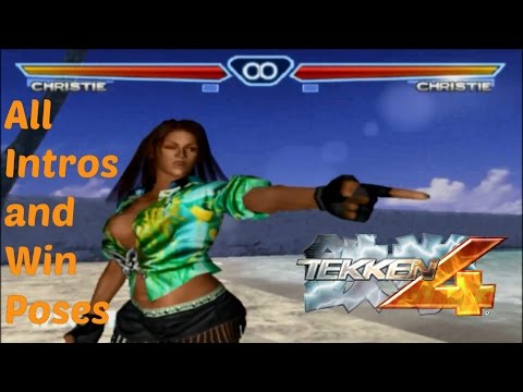 Tekken 4: All Intros & Win Poses - All Characters
