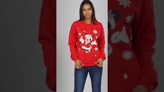 Studio - Disney Minnie Mouse Christmas Sweatshirt