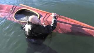 Skin-on-Frame Kayak self rescue