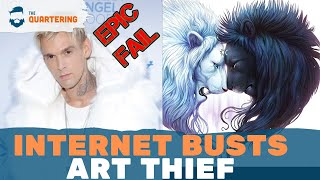 Internet Justice! Aaron Carter BUSTED Stealing Art Suffers Instant Regret!
