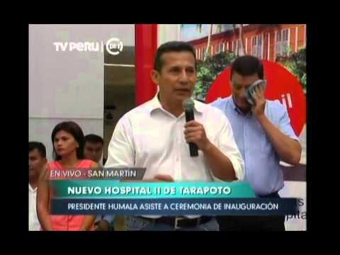 Discurso en inauguración del Nuevo Hospital II de Tarapoto