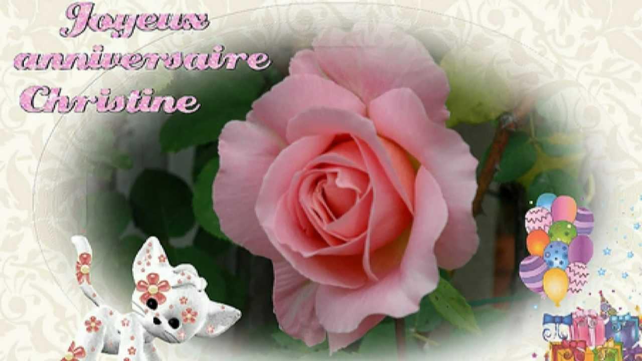Joyeux anniversaire Christine - YouTube