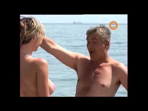 Naked & Funny  Sexy Paint Bra Beach video