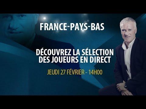 Replay conférence de Didier Deschamps pour liste France-Pays-Bas
