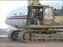 Scrapping an airplane at Mojave Airport