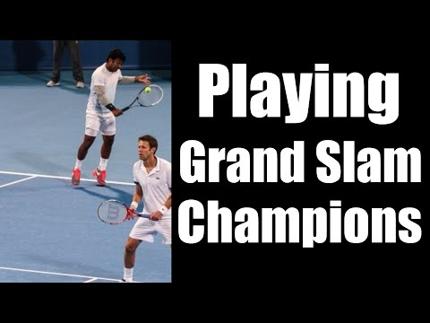 Playing Against Grand Slam Champions | 2015 | Top Tennis Training
