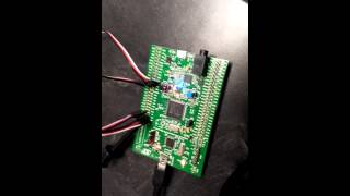 Mechatronics STM32 F4 Discovery Board Testing