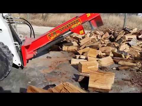 Bobcat upside down tm log splitter.