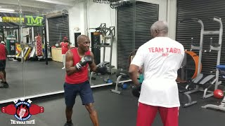 (WHOA!) FLOYD MAYWEATHER SR SPARS WITH UK BOXING FAN