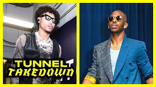 Kelly Oubre Channels His Rockstar Energy while Chris Paul's Fit Flops | Tunnel Takedown