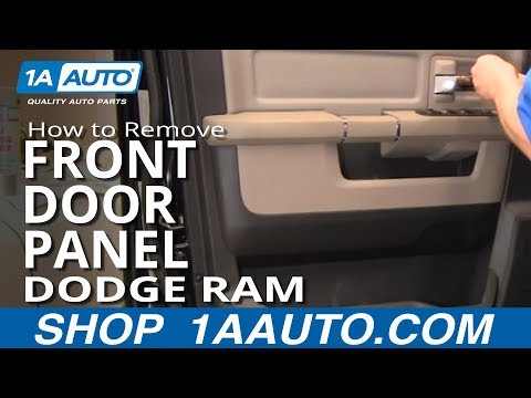How To Remove Install Front Interior Door Panel 2009-2012 Dodge Ram Truck