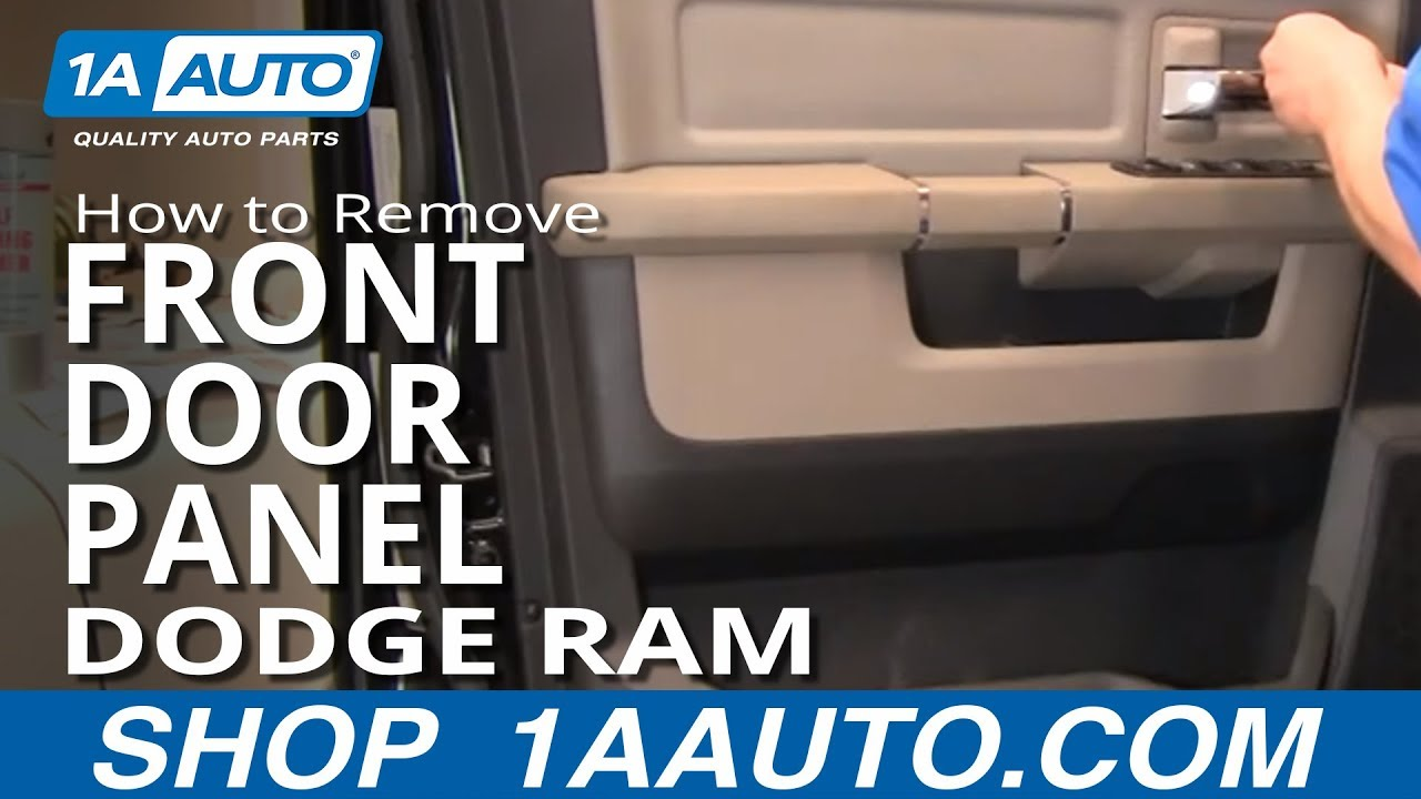 how to remove install front interior door panel 2009 2012 dodge ram truck youtube. Black Bedroom Furniture Sets. Home Design Ideas