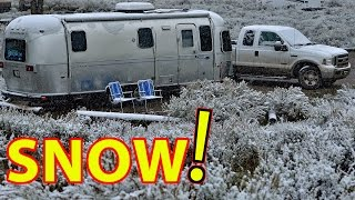 Airstream RV Camping in SNOW! (in Grand Teton National Park)