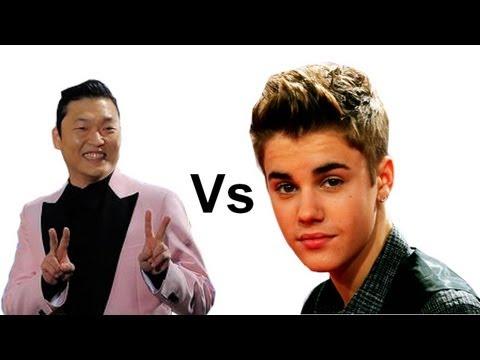 PSY Gangnam Style Vs Justin Bieber Baby - Make PSY Number 1