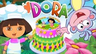 Dora Cake Decor Online Game! | Bake a Birthday Cake with Dora the Explorer!