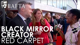 Charlie Brooker & Annabel Jones talk about real life mirroring Black Mirror! | BAFTA TV Awards 2018