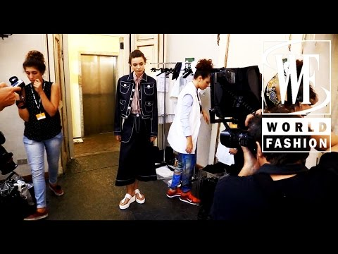 Backstage Cristiano Burani Spring-Summer 2015 Milan Fashion Week