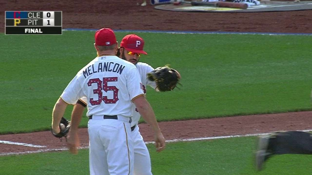 CLE@PIT: Melancon induces groundout to get the save