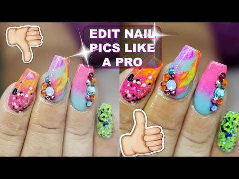 HOW TO EDIT NAIL PHOTOS like a pro using picmonkey | ADD SPARKLES & BLING
