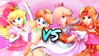 SSBU: Peach & Daisy VS Zelda & Rosalina !!!