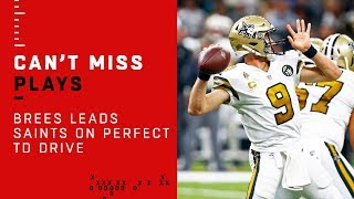 Drew Brees Leads Perfect TD Drive vs. Philly
