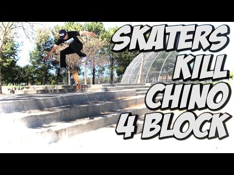 SKATERS KILL BIG 4 BLOCK AND MORE !!! - A DAY WITH NKA -