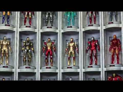 Iron Man 3 Hot Toys House Party Protocol Hall Of Armor 1/6 Scale Diorama Pics & Details!