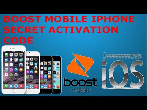 IPhone Activation secret code (Boost Mobile)