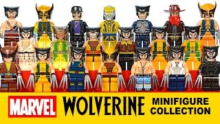 Every X-Men Wolverine Minifigure Collection I have LEGO® Marvel Super Heroes