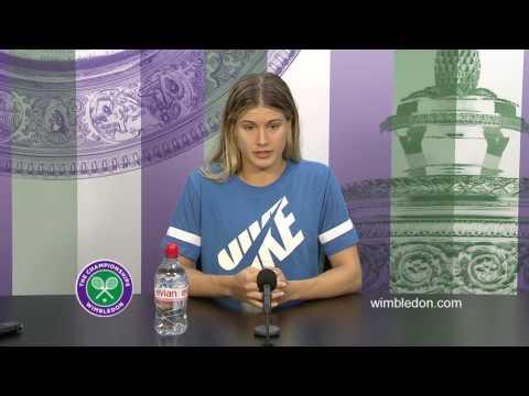 Eugenie Bouchard second round press conference