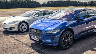 Tesla Model S 75d vs Jaguar I-Pace | Drag Races | Top Gear