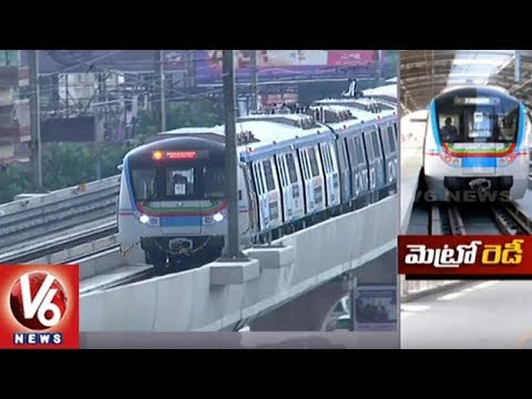 Hyderabad Metro Rail Officials Plans To Launch Ameerpet-L.B Nagar Route In August | V6 News