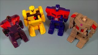 2008 TRANSFORMERS ANIMATED SET OF 4 McDONALD'S MEXICO EXCLUSIVE HAPPY MEAL TOY'S VIDEO REVIEW
