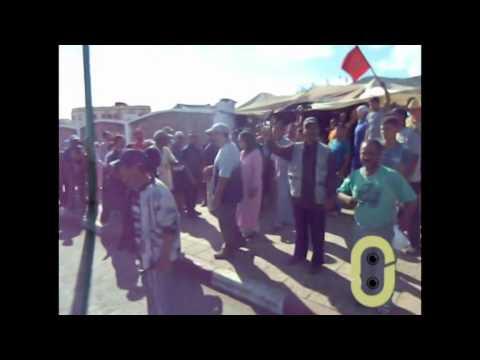 احتجاجات أصحاب العربات اليدوية المصادرة من سوق مولاي التهامي بوزان