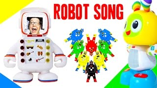 ROBOT SONG FOR KIDS | Robot Music for Kids | Beatbo, Alfie, Plex, C-3PO Dance Party OCTOYBER
