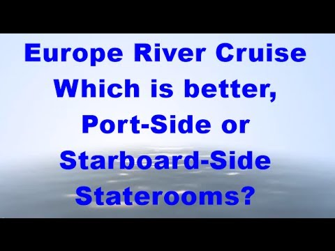European River Cruises: What is the best side of the ship should I book? Call 1800 130 635