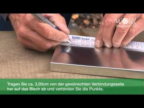 Wolff Finnhaus -  Montage Metall-Flachdachabschluss
