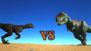 Indoraptor vs Rex & Spinosaurus & Raptors || ARK Jurassic Park Expansion || Cantex