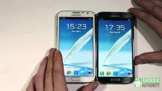 Galaxy Note 2 - Marble White vs Titanium Gray