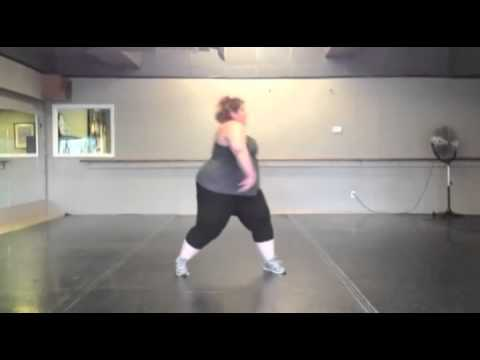 fat happy obese girl dancing to pitbull № 71578