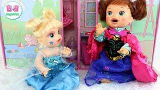 download musica Disfraces de Elsa y Ana FROZEN para mis bebés Sara y Eva BABY ALIVE
