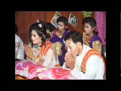 Khmer's Monks are Chanting at Wedding