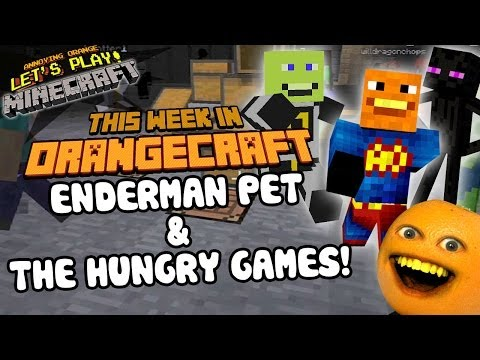Annoying Orange Let's Play Minecraft - THE HUNGRY GAMES