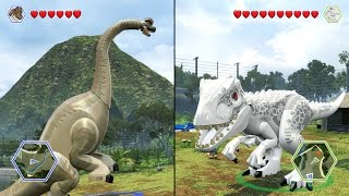 Brachiosaurus vs Indominus Rex (BATTLE) - LEGO Jurassic World
