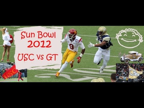 Hyundai Sun Bowl 2012 Highlights USC Football vs GT Football. That pretty much sums up USC's 21-7 loss to Georgia Tech at the Sun Bowl. Frankly, it wasn't even that close�USC was held scoreless ...