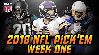2018 NFL Week 1 Predictions | NFL Pick'em Challenge