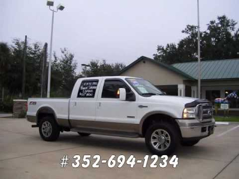 Used 2005 Ford F250 KING RANCH Crewcab 4x4 diesel in Ocala Florida