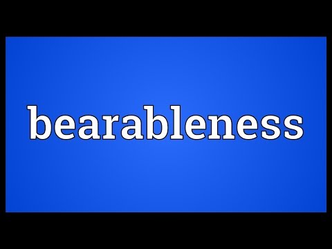 Header of bearableness