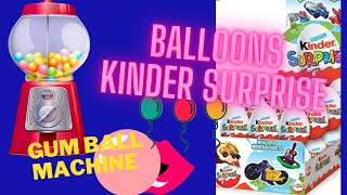 Kids Fun Video,Colors, Opening Surprise Eggs & Blowing Balloons!